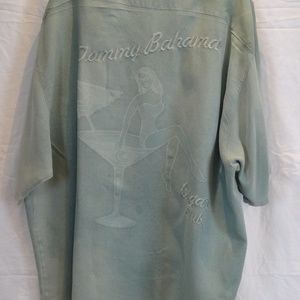 Tommy Bahama SILK Cigar Club Embroidered Shirt 2XX